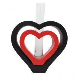Vase 2 in 1 Herz inkl. Glaseinsatz