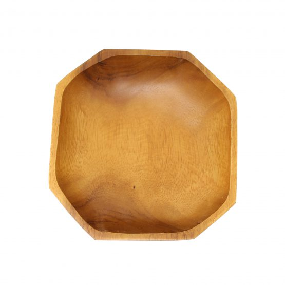 Schale Achteck Holzschale braun