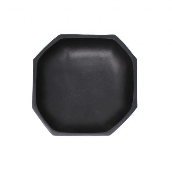 Schale Achteck Holzschale schwarz
