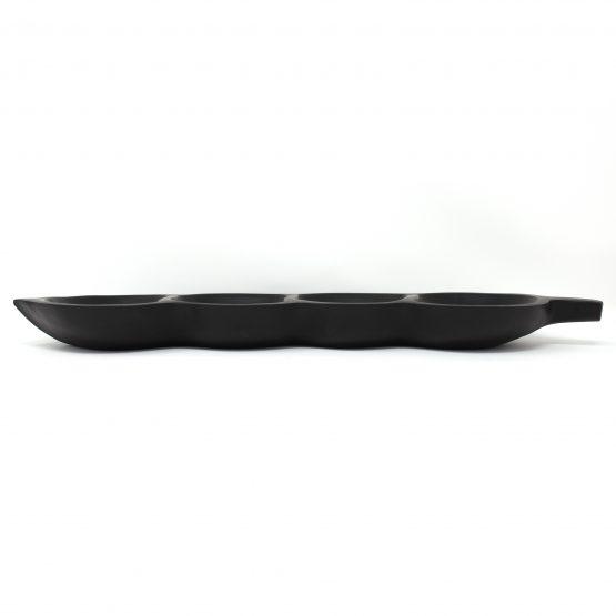 Schale Banana Boot Holzschale schwarz