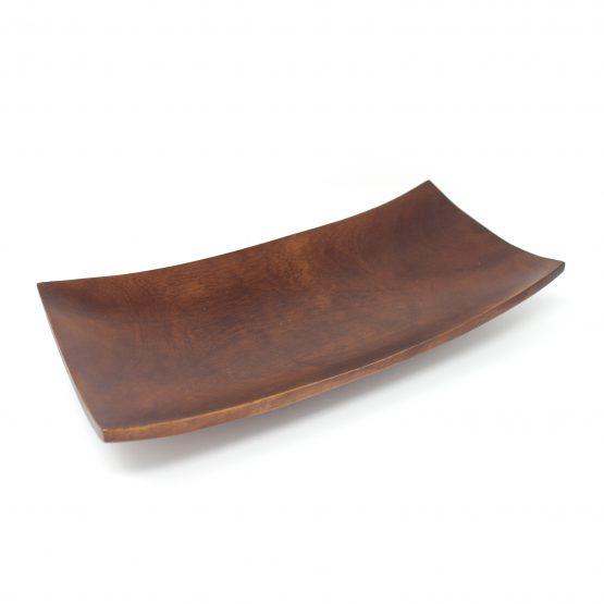 Schale Kanu Holzschale braun