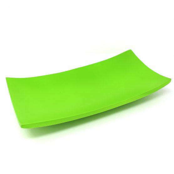 Schale Kanu Holzschale grün