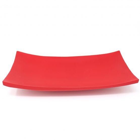 Schale Kanu Holzschale rot