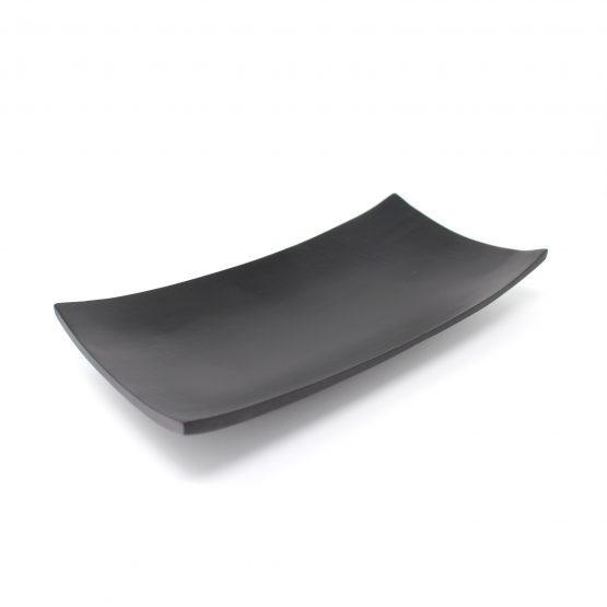 Schale Kanu Holzschale schwarz