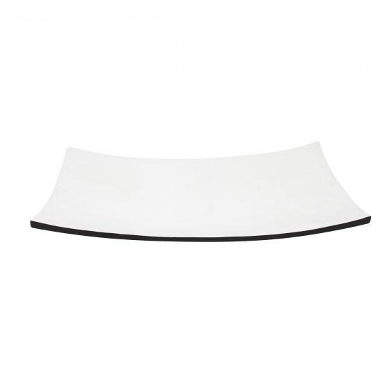 Schale Kanu Holzschale schwarz/weiß