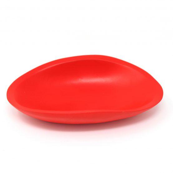 Schale Muschel Holzschale rot