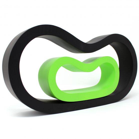 Schale 2 in 1 Mystique Holzschale schwarz/grün