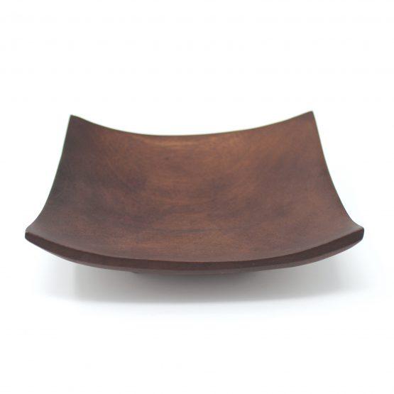 Schale Quadrat braun Holzschale