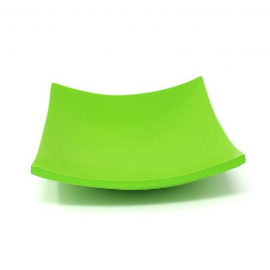 Schale Quadrat grün Holzschale