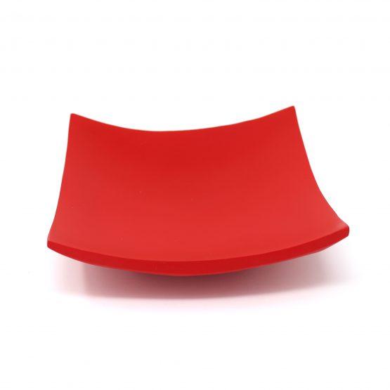 Schale Quadrat rot Holzschale