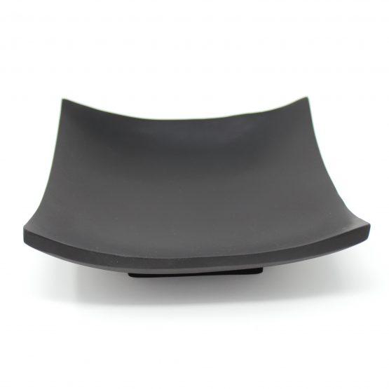 Schale Quadrat schwarz Holzschale