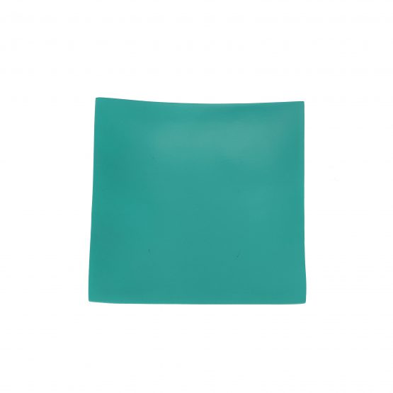 Schale Quadrat türkis Holzschale