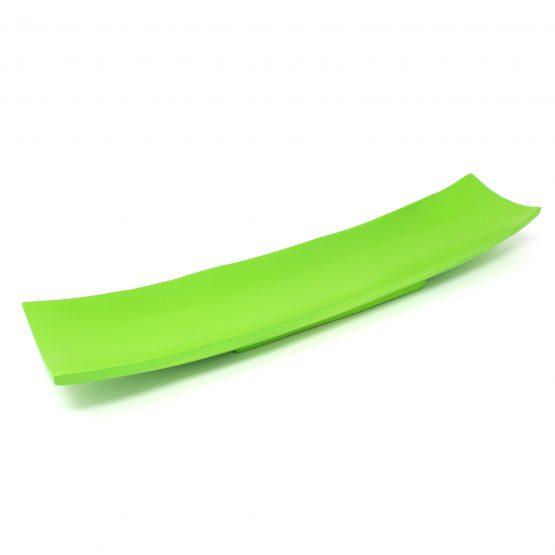 Schale Schiff (groß) grün Holzschale