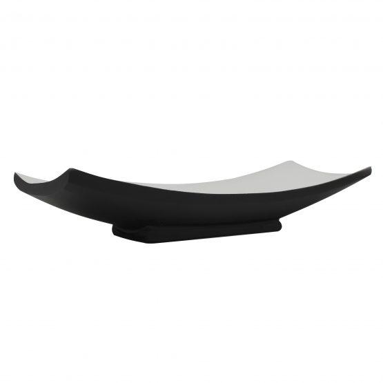 Schale Schiff (klein) schwarz/weiß Holzschale