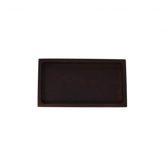 Schale Tablet Holzschale braun