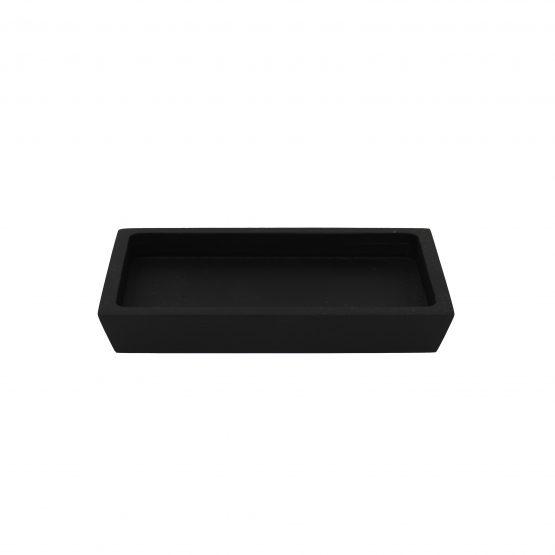 Schale Tablet Holzschale schwarz