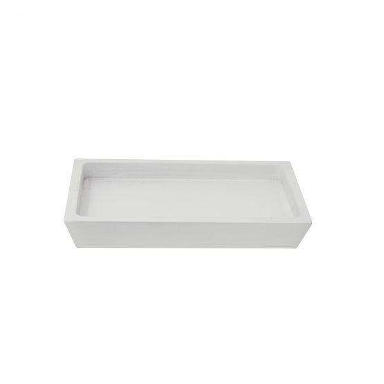 Schale Tablet Holzschale weiß
