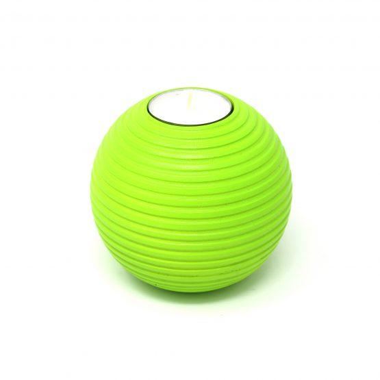 Teelichthalter Murmel Grün