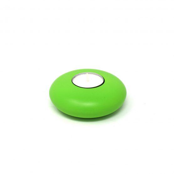 Teelichthalter rund Grün