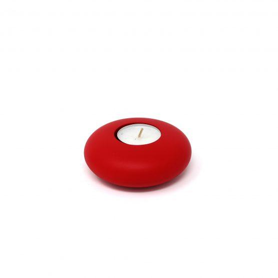 Teelichthalter rund Rot