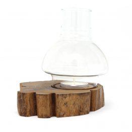 Teelichthalter Windlicht Tree braun