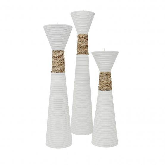 Teelichthalter Trippel Weiß