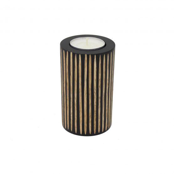 Teelichthalter Zebra Schwarz/Braun