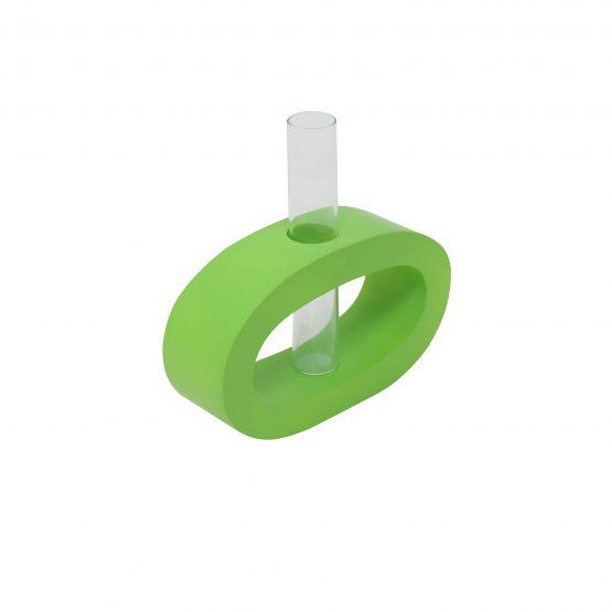 Vase Oval (klein) inkl. Glaseinsatz grün