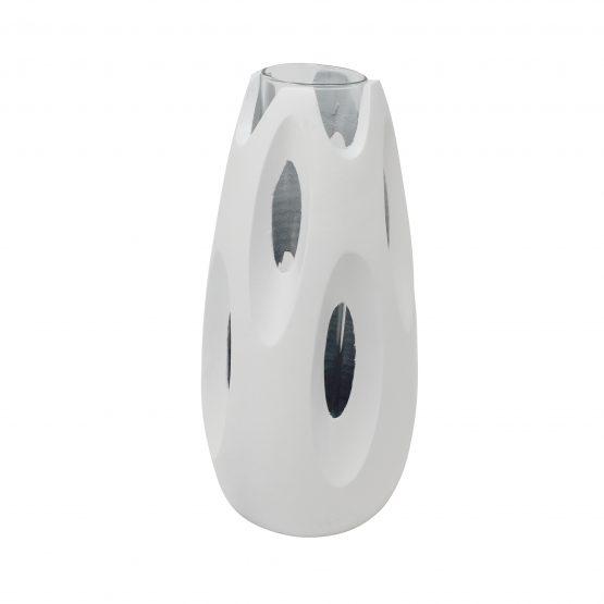 Vase Bully inkl. Glaseinsatz weiß