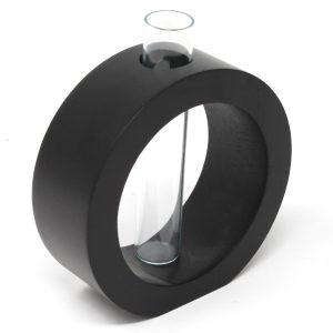 Vase Kreis inkl. Glaseinsatz schwarz