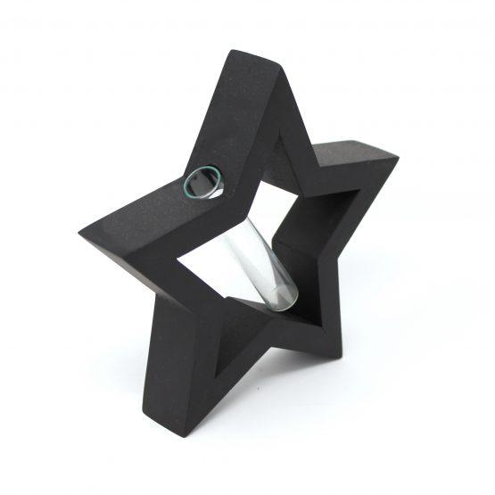 Vase Planet inkl. Glaseinsatz schwarz