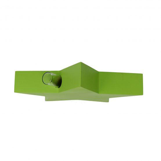 Vase Stern inkl. Glaseinsatz grün