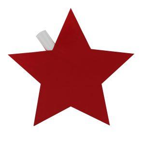 Vase Stern inkl. Glaseinsatz rot