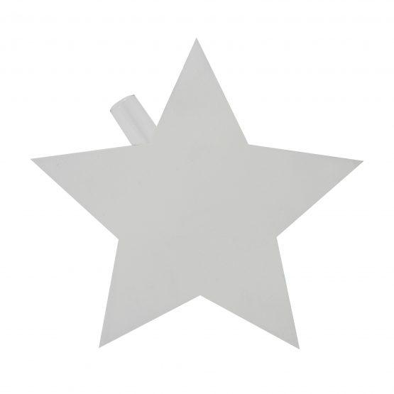 Vase Stern inkl. Glaseinsatz weiß